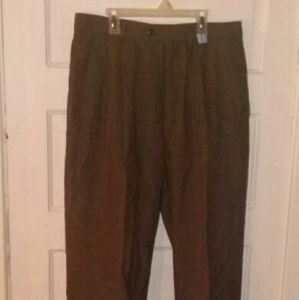 Braggi by Louis Raphael brown  dress slacks 32/32